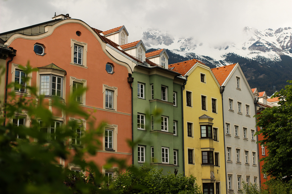 Innsbruck Colored Houses